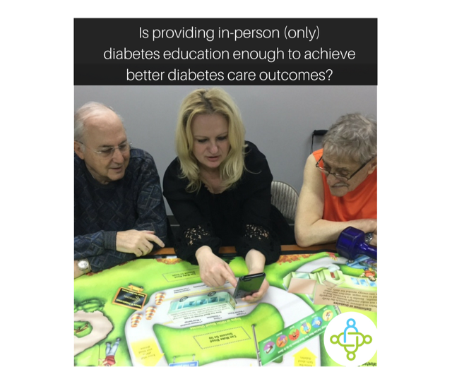 Is Providing In-person (only) Diabetes Education Enough to Achieve Better Diabetes Care Outcomes?