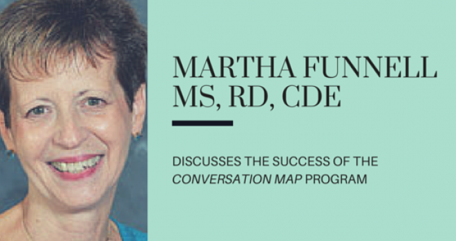 Martha Funnell discusses the success of the diabetes Conversation Map® program at the American Diabetes Association 2015 meeting